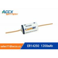 Quality ER14250 with tabs, axis, 3.6V 1200mAh lithium thionyl chloride battery wholesale