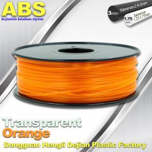 Quality ABS Desktop 3D Printer Plastic Filament Materials Used In 3D Printing Trans Orange wholesale