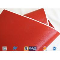 Quality 1010gsm Glossy Red Silicone Coated Fiberglass Fabric For Engine Insulation Parts wholesale