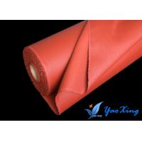 China 0.4mm Silicone Rubber Coated Fiberglass Fabric Material For Flexible Insulation Cover on sale