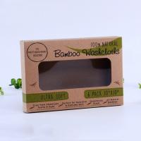 China Kraft paper handmade soap packaging box with pvc window on sale