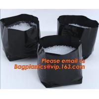 Quality polyethylene black grow bags plastic plant pot seeding nursery bags,Effective UV Stabilized Black White Plastic Growing wholesale