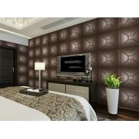Cheap Luxury Modern 3D Leather Wall Cladding TV Background Wallpaper Royal Office Wall Panels for sale