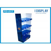 Buy cheap Supermarket Custom Floor Display Racks , 4 Tray Cardboard Bakery Display Shelves product