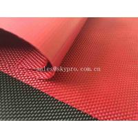 China Solution Dyed Red Coating Waterproof Oxford Fabric For Bag And Luggage on sale