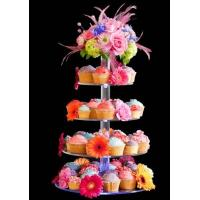 Quality 7-Tier Bakery clear acrylic display case , 5mm Cupcake Display Stand Rack wholesale