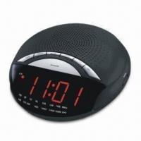 AM/FM Clock Radio with Dual Alarm, Dimmer Control and Electronic Volume Up/Down Control
