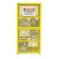 Quality Standardized Gas Bottle Safety Cages Durable Safe Yellow Epoxy Electrostatic Spray wholesale