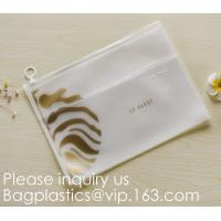 Fashion Letter Frosted Transparent PVC Eva Clothing Underwear Zipper Bag With Logo,Eco Friendly Pink Clear Eva Makeup Ba