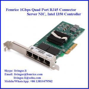 Quality 10/100/1000Mbps Quad Port RJ-45 Copper Cable Ethernet Server Adapter wholesale