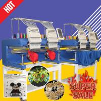 China Multi functions home embroidery machine cheaper than swf HO1502H 400*500mm cap t-shirt flat 3d embroidery machine 2 head on sale
