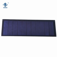 China Home Power Thin Film low voltage solar panel 0.8W 5.5V with Transparent Glass on sale