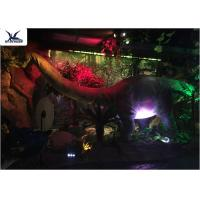Quality Full Size Garden Statues Moving Dinosaur Models With Light , Realistic Raptor Dinosaur wholesale