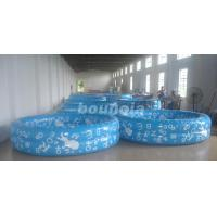 Quality Kids Inflatable Water Pool With 0.6mm Commercial Grade PVC Tarpaulin wholesale