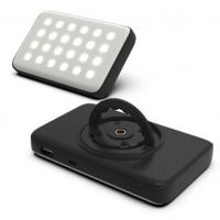 Quality LED rechargeable camping light with power bank function black color 10000mAh wholesale