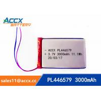 Quality pl446579 3.7V 3000mAh rechargeable lipo battery for DVD player, mobile phone 446579 li-ion polymer battery wholesale