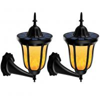 China Solar LED Outdoor Wall Lights Flame Dancing Light With Flash Light Control on sale