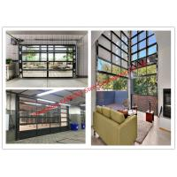 Quality Aluminum Frame Rolling Door Customized Transparent Door With Tempered Glass Panel wholesale
