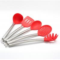 China 5 pcs sets silicone kitchen tool  sets with stainless steel handle on sale