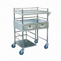 China Luxury Treatment Hospital Trolley, Measures 670x450x1000mm on sale