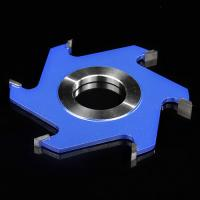 China Welded Grooving Profile Milling Cutter Custom Made Blue Colour Six Tooth on sale