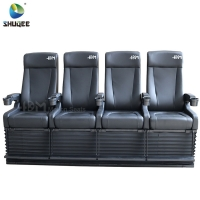 Quality 4D Cinema System PU Leather Motion Seat Black Color With 40 Seats wholesale