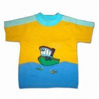 China Children's T-shirt with Fashionable Embroidery on sale