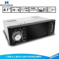 Quality LCD Screen 1 Din Car Stereo / Multimedia Car Player With MP5 FM USB Bluetooth wholesale