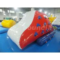 Quality Red Inflatable Iceberg With 2 Sides Climbing For Swimming Pool wholesale