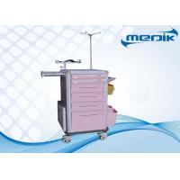China IV pole Emergency Medical Trolleys With Utility Container ABS Drawers on sale
