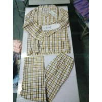 Buy cheap wholesale  indoor cotton leisure wear men women big size spring pajamas outfits sleeping sets Singapore stock-lot leads from wholesalers