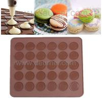 China 30-Capacity Round Shaped Non Stick Heat Resistant Reusable Macarons Silicone Baking Mat on sale