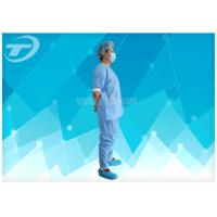 Quality Disposable Coveralls Waterproof Disposable Gown With Knitted Cuff wholesale