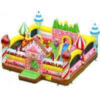Quality Candy House Indoor Bouncy Castle Playground Combo Games Commercial Grade wholesale