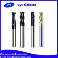 China Solid carbide coating NaNo 4 flute flat end mills cutting dia 10mm HRC65 on sale