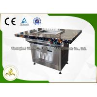 China Stainless Steel Electric Self Service Mini Teppanyaki Table Grill Down Exhaustion for Restaurant Hotel on sale