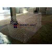 China Galfan Coated Stone To Fill Gabion Baskets , Wire Cages For Rock Retaining Walls on sale