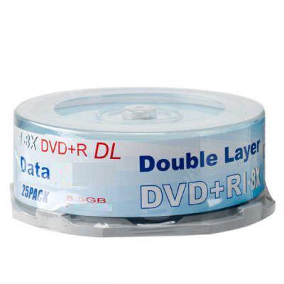 Cheap Customized 8.5GB (120mm) Single-sided 215mins DVD+R DL 8x Dvd R Blank Disc for sale