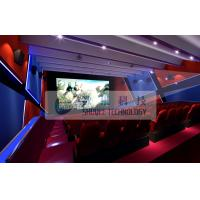 Quality Attractive 4d simulator cinema , 3D 4d 5D 6D movie with flat / arc screen for Theme park wholesale