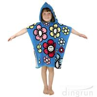 Quality Durable Cartoon Hooded Poncho Towels / Soft Touch Personalised Poncho Towel Dryfast wholesale