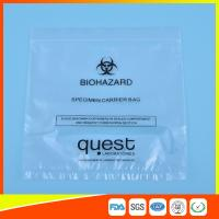 Leak Proof Soft Specimen Transport Bags For Transporting Lab Specimens