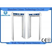 Quality 4 Zones Walk Thru Door Frame Metal Detector Indication Of Alarming Area wholesale