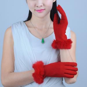 Quality 10F-179 ladies / women's autumn color woolen gloves wholesale