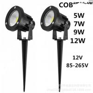 Quality 7W 120V LED Garden Lights , Black Body Led Outdoor Landscape Lighting wholesale