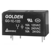 Quality Custom Golden Flux Proofed Type DC Power Relay 12V / 24V GO 115F wholesale