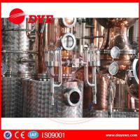 Cheap 66 Gal Industrial Copper Distillery Equipment Vodka Copper Alcohol Distiller for sale