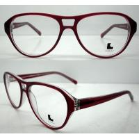 Quality Cool Ladies Retro Large Eyeglasses Frames , Acetate Eyewear Frame wholesale
