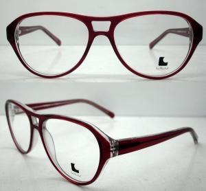 Cheap Cool Ladies Retro Large Eyeglasses Frames , Acetate Eyewear Frame for sale