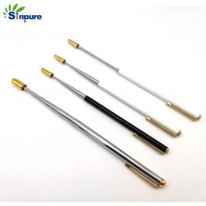 Quality Black Plated Aluminum Telescopic Pole , Telescoping Aluminum Rod With Metal Cap wholesale