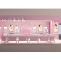 Quality Easy Install Showroom Display Cases Acrylic Logo Pink Coating Finish Color wholesale